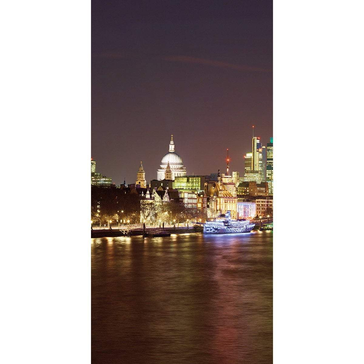 Wall Acoustics Panel 3 Muffle Mural - London Skyline, Night Panel 3