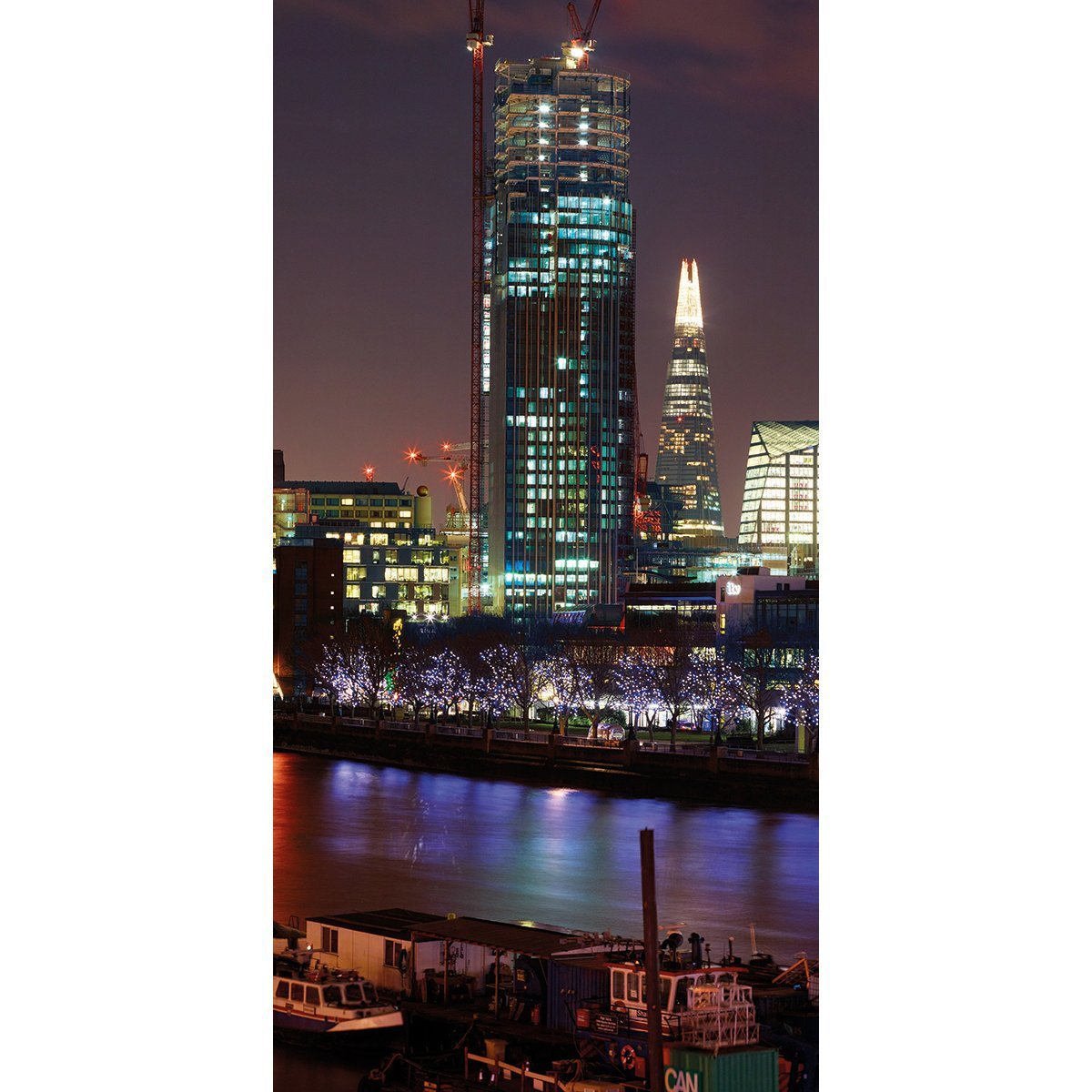 Wall Acoustics Panel 6 Muffle Mural - London Skyline, Night Panel 6