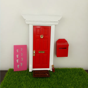 Red Tooth Fairy Door Kit with Mailbox Fairy Welcome Mat Fairy Dust & Red Tooth Fairy Door Kit with Mailbox Fairy Welcome Mat Fairy Dust ...