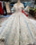 Gorgeous 2018 Ball Gown Wedding Dresses with 3D Flowers Elaborate Wedding Gowns CathedralTrain