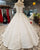 2018 Ball Gown Wedding Dresses with Cap Sleeves Sparkly Wedding Gowns Floor Length