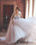 Sexy Sheer Tulle Wedding Dress Ball Gown Long Sleeve Beaded Princess Bridal Gowns