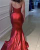 Sexy 2018 Burgundy Mermaid Prom Dresses with Gold Lace Evening Dresses Party Gowns with Slit