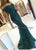 Cap Sleeve Lace Mermaid Dark Green Prom Dresses 2020 Floor Length