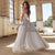 Charming Gray Prom Dresses with Rhinestones Tulle A-line Prom Gowns