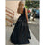 Prom Dresses 2020 Plunge V Neck Satin Long Party Gowns