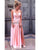 2019 Pink Prom Dresses Split Long Chiffon Party Gowns