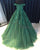 Real Green Lace Prom Dresses Cap Sleeve Evening Gown 2020