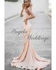 Modest Pink Mermaid Prom Dresses Long Pagenat Gown