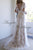 Boho Chic Lace Wedding Dresses with Short Sleeves Beach Wedding Gowns