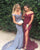 2018 Burgundy Mermaid Prom Dresses with Split Side Sexy Party Gowns