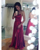 Sexy Spaghetti Straps Dark Red Prom Dresses 2018 Split Side Long Party Gowns Evening