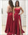 Sexy Spaghetti Straps Red Prom Dresses 2018 New Split Side Long Party Gowns Evening
