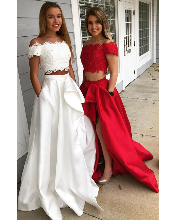 1a2098ddcab Sexy High Low Prom Dresses 2018 New Fashion Cap Sleeve Prom Party Gowns  with Lace