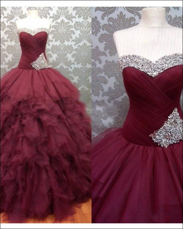 797775bb2e quinceanera-dresses-with-silver-beadings burgundy-prom-dress quinceanera-