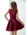 Elegant Simple Burgundy Homecoming Dresses 2018 Fashion Style Short Prom Party Gowns Cocktail Dress