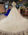 Unique Lace Wedding Dresses Ball Gown Beaded 2018 Shinny Bridal Wedding Gowns Cap Sleeve