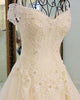 Gorgeous 2018 Ball Gown Wedding Dresses with Long Train Sparkly Lace Wedding Gowns Beaded