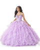 Light Purple Puffy Ruffles Skirt Sweet 16 Ball Gown Dresses Shiny Beading Quinceanera Dresses vestido 15 anos