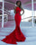 Sexy Mermaid Prom Dresses Halter Spandex Fabric Delicate Prom Party Gowns 2018 Evening Dress