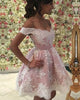 Delicate Short Homecoming Dresses Freshman Blush Pink and White Lace Prom Party Gowns Cocktail Dress