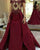 Elegant Burgundy Prom Dresses Off The Shoulder Popular 2018 Satin Long Prom Gowns Appliques