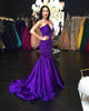 Sexy Purple Mermaid Prom Dresses with V Neck Popular 2018 Long Evening Gowns Fashion