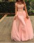 Off The Shoulder Coral Prom Dresses Mermaid Lace Cap Sleeve Sexy Evening Gowns Long