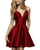 sherrihill-52379-burgundy-Dress homecoming-dresses short-prom-dress v-neck-cocktail-dress satin-graduation-dress mini-length-prom-gowns