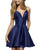sherrihill-52379-navyblue-1-Dress homecoming-dresses short-prom-dress v-neck-cocktail-dress satin-graduation-dress mini-length-prom-gowns