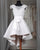 Sexy White Hi-Lo Prom Dresses with Cap Sleeve 2018 Long Prom Gowns with Bow Belt