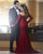 Sexy Mermaid Burgundy Prom Dresses with Long Sleeve Off The Shoulder Long Prom Party Gowns