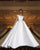 Elegant Satin Wedding Dress Ball Gowns 2019 Off The Shoulder Modest Lace Bridal Gown Cathedral Train