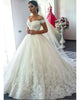 Delicate Lace Appliques Wedding Dresses Off The Shoulder Modest 2019 Bridal Wedding Dress Ball Gown