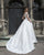 New 2019 Satin Wedding Dresses with Pockets Modest Cap Sleeve A-line Bridal Gowns