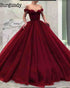 2019 Off The Shoulder Quinceanera Dresses Tulle Skirt Ball Gowns Sweet 16 Dresses