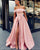 prom-dresses-satin prom-dresses-2019 prom-dress-off-the-shoulder prom-dress-split prom-dress-pink prom-gowns-light-blue