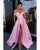 Sexy Off The Shoulder Satin Prom Dresses with Split Side 2019 Prom Party Gowns V-Neck