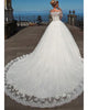 Elegant Off The Shoulder Lace Wedding Dresses with Half Sleeve Bridal Dress Ball Gown
