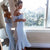 2019 Light Blue Cap Sleeve Lace Bridesmaid Dresses Mermaid Party Dress Ankle Length