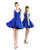 2019 Royal Blue Satin Homecoming Dresses V-Neck Sexy Short Cocktail Dress