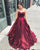 2019 Burgundy Satin Quinceanera Dresses Velvet Sweetheart Long Prom Ball Gown Sweet 16