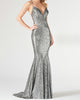 2020 Sparkly Mermaid Prom Dresses Sequined V-Neck Long Prom Homecoming Party Gowns
