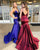 Sexy 2019 Burgundy Mermaid Prom Dresses with Spaghetti Straps Satin Long Party Gowns