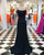 2019 Black Elastic Satin Mermaid Prom Dresses Sexy Long Prom Homecoming Gowns