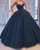 Black Quinceanera Dresses with Spaghetti Straps Ball Gown Sweet 16 vestidos de quinceañera