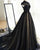 Elegant High Neck Black Lac Tulle Evening Dresses Sexy Long Evening Party Gowns