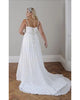 Plus Size Beach Wedding Dresses 2019 Corset Back Spaghetti Straps Elegant Chiffon Bridal Gowns