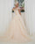 Off The Shoulder Champagne Lace Wedding Dress 2019 Ball Gown Lace Bridal Gowns with Belt