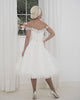 Modern Off The Shoulder Wedding Dress for Brides Tulle Bodice with Fashion 3D Flowers